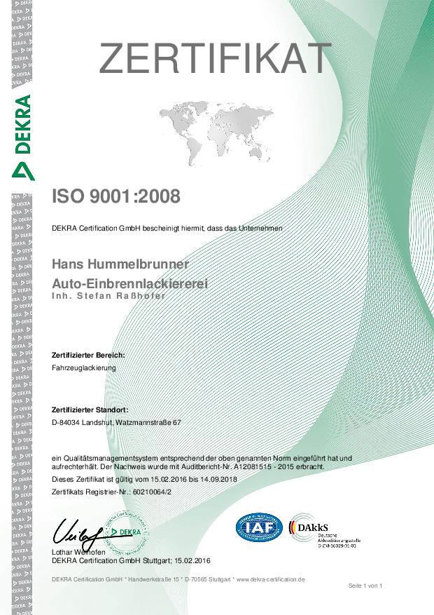 ZertifikatISO900
